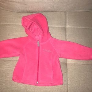 Girls long sleeve hooded jacket size 12 months